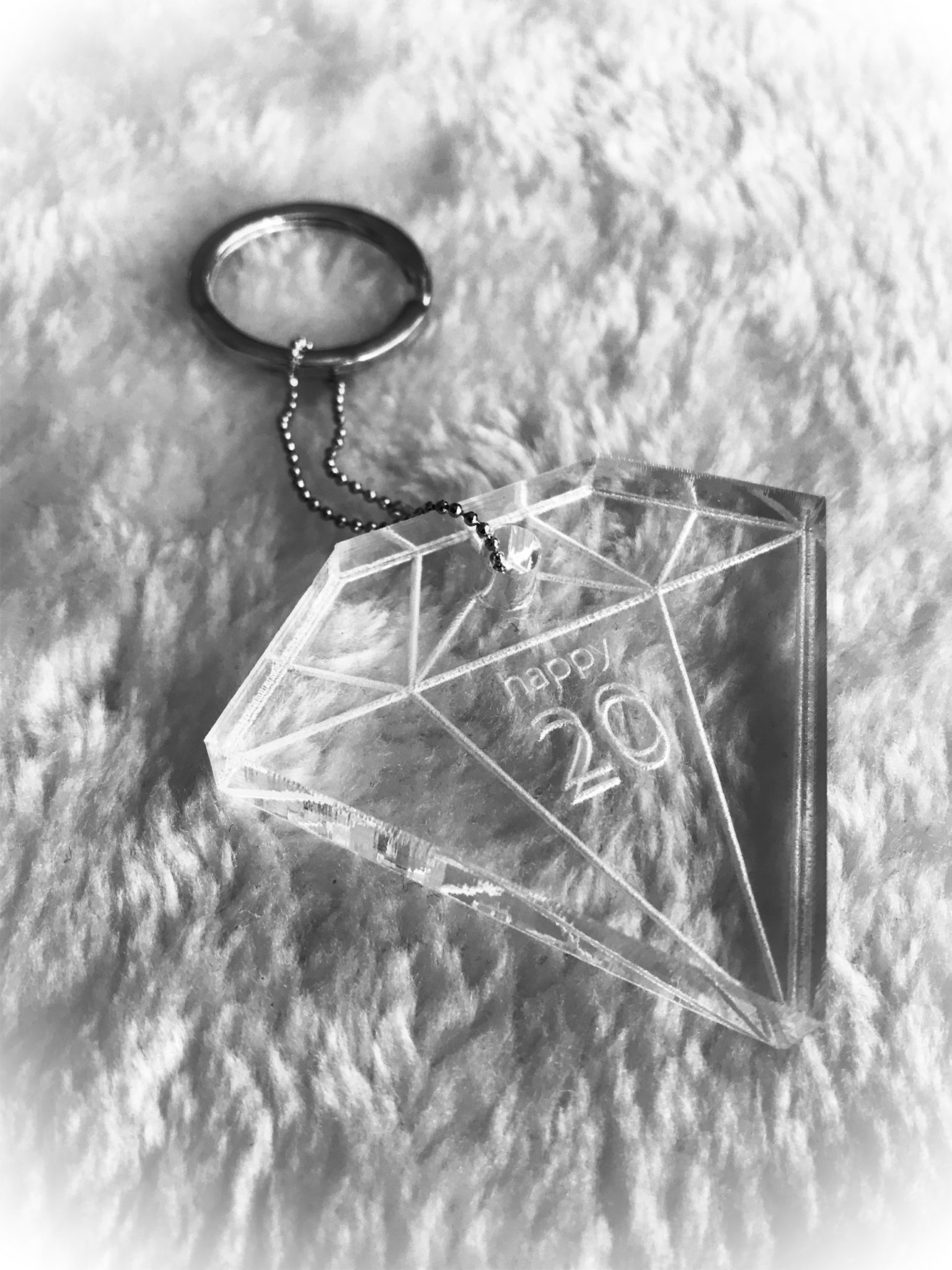 2020 Shine Bright Like A Diamond-special occasion-keychain-close up