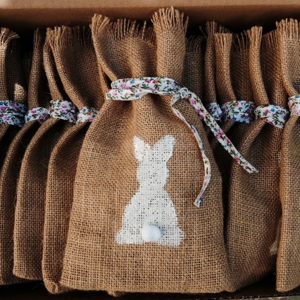Bunnies Everywhere-baptism favors-delivery package-content