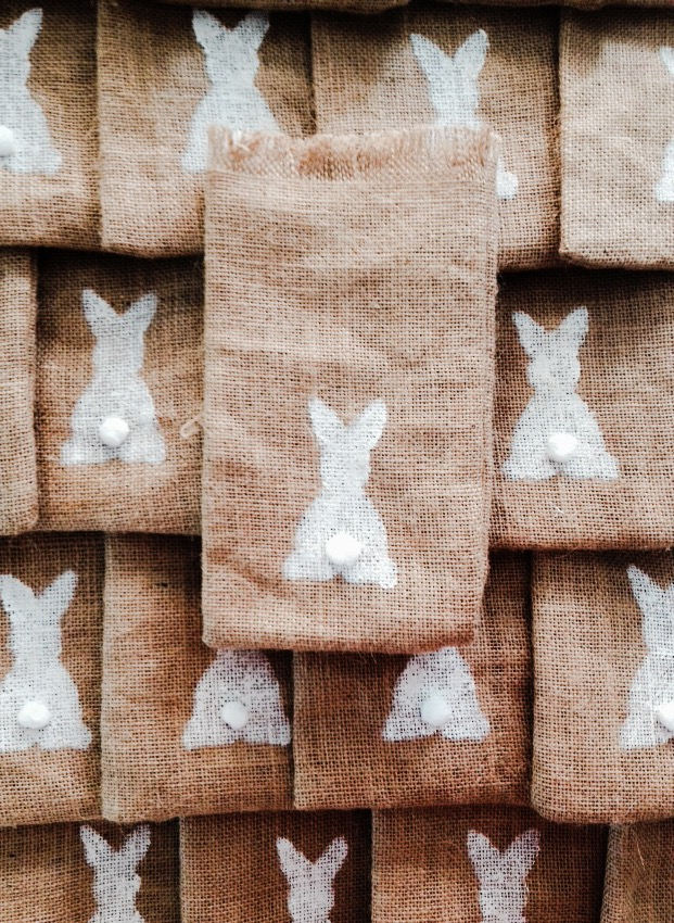 Bunnies Everywhere-baptism favors-work in progress