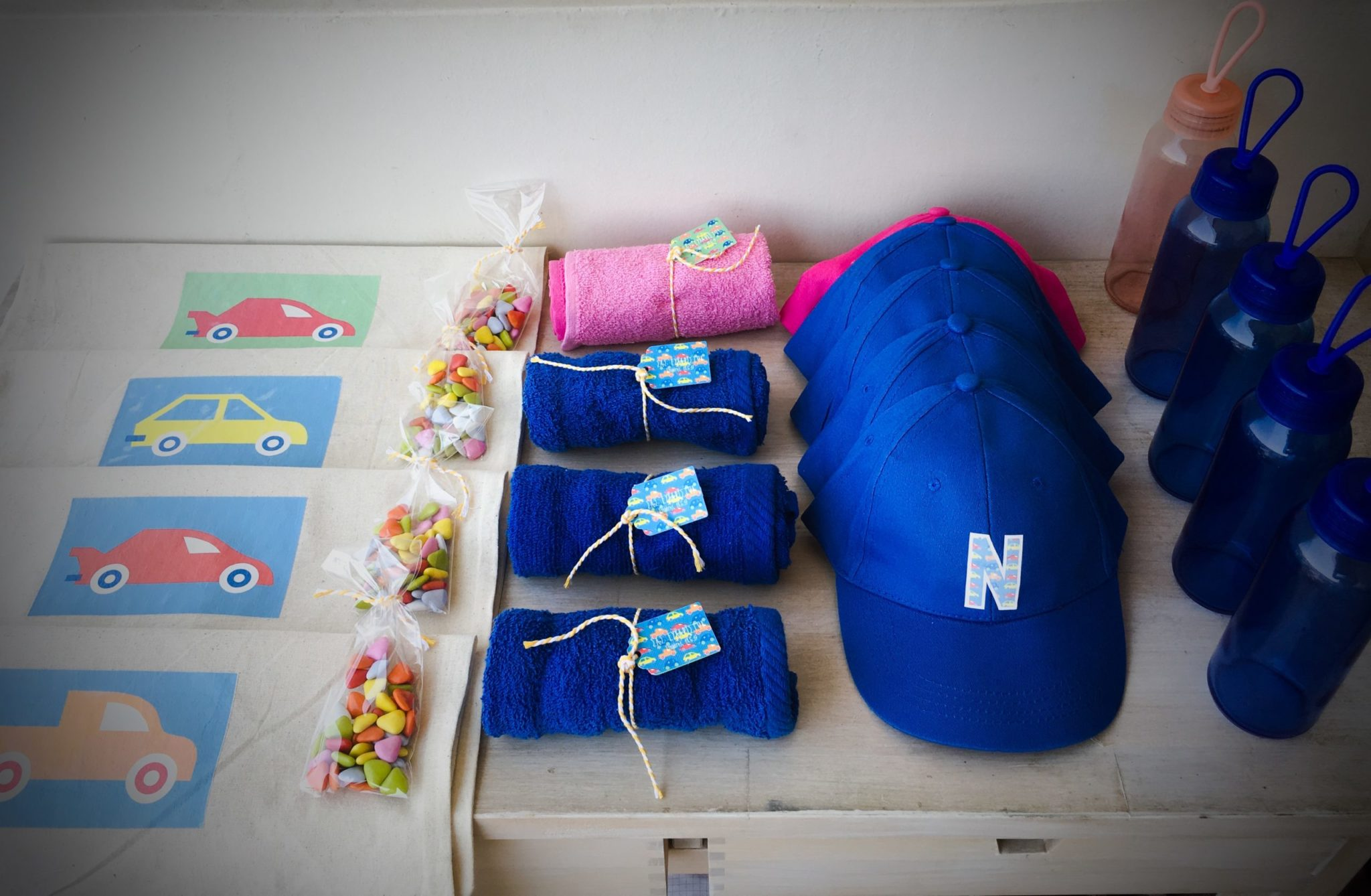 Cars-party-gift bag-contents