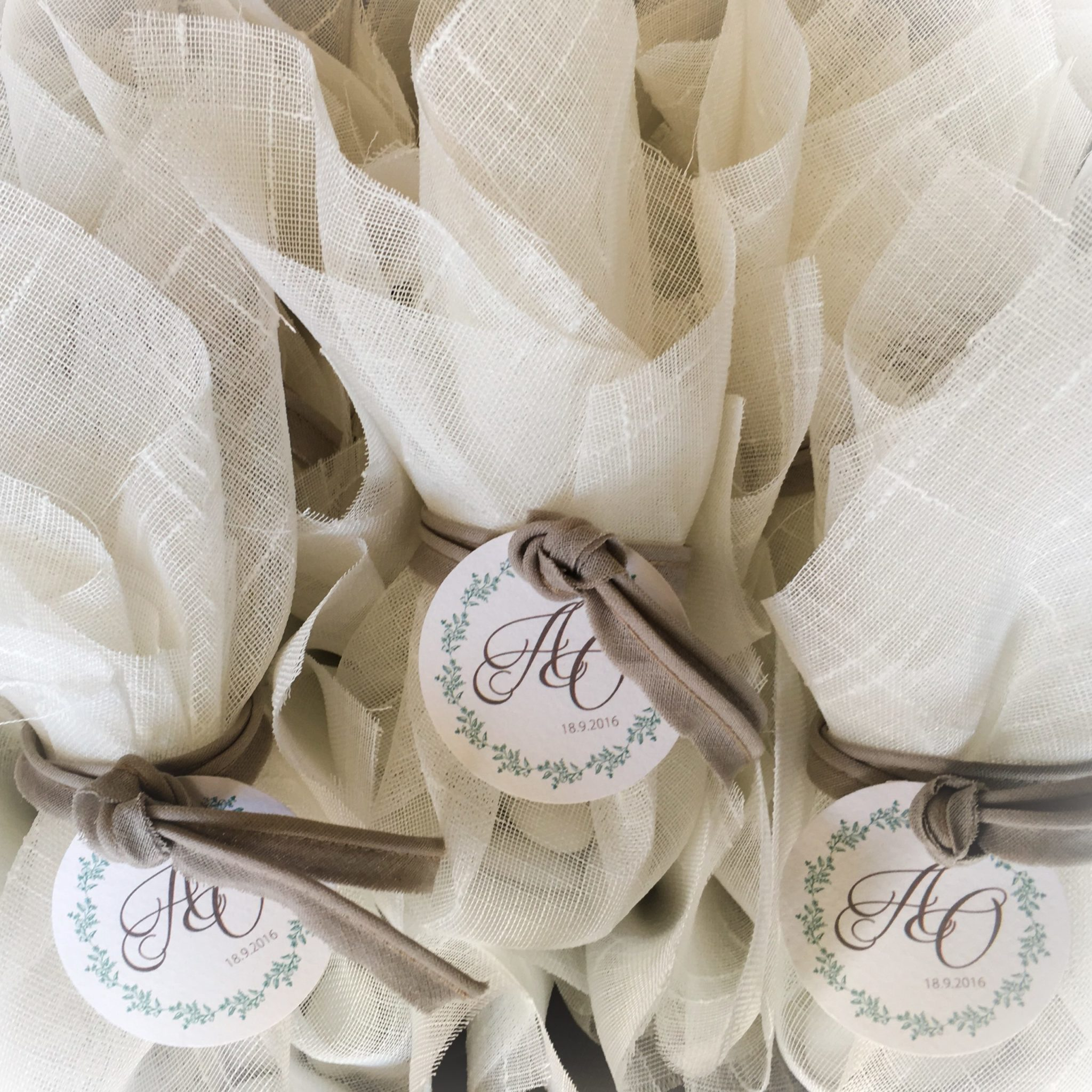 Chic And Simple-wedding favor-work in progress