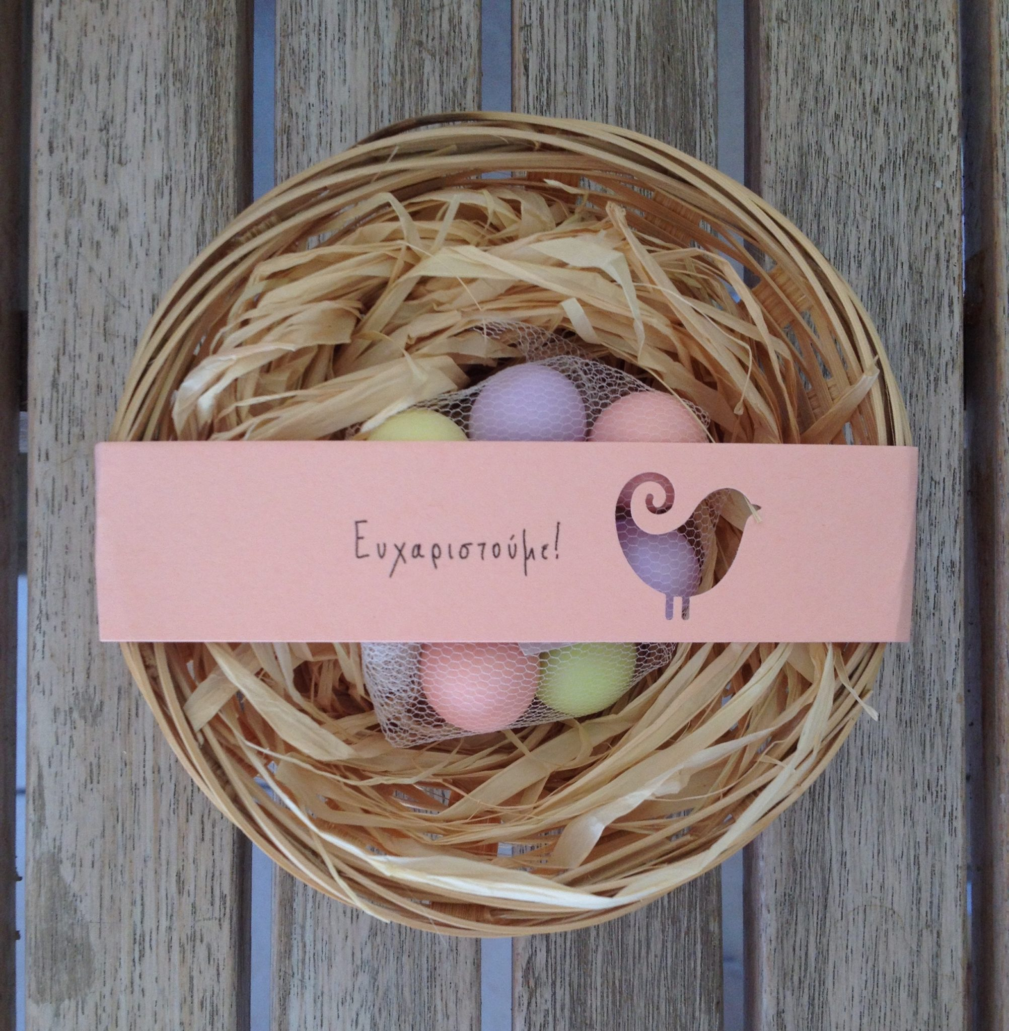 Cute Birds' Nest-baptism favor