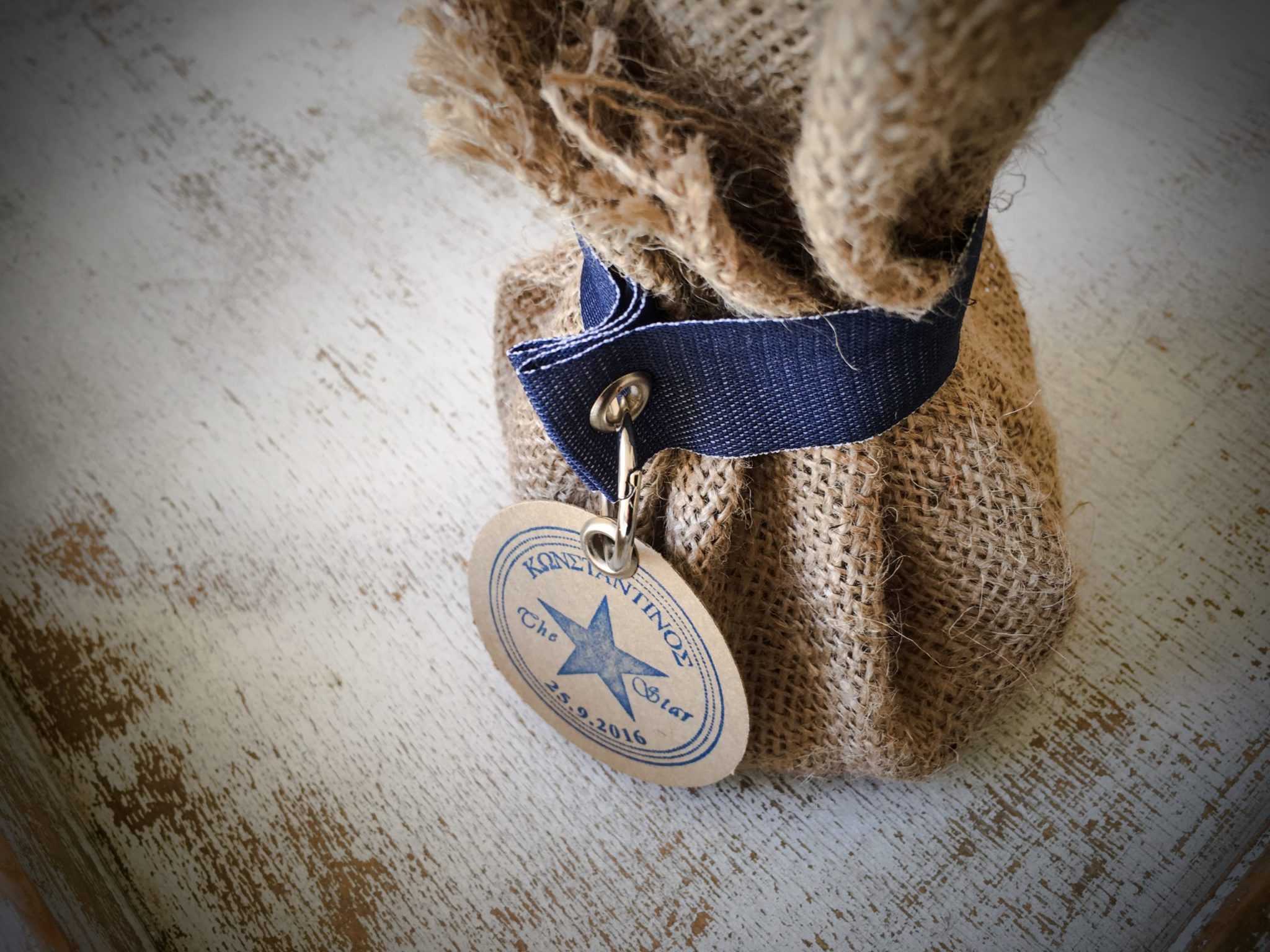 Denim Christening-baptism favor