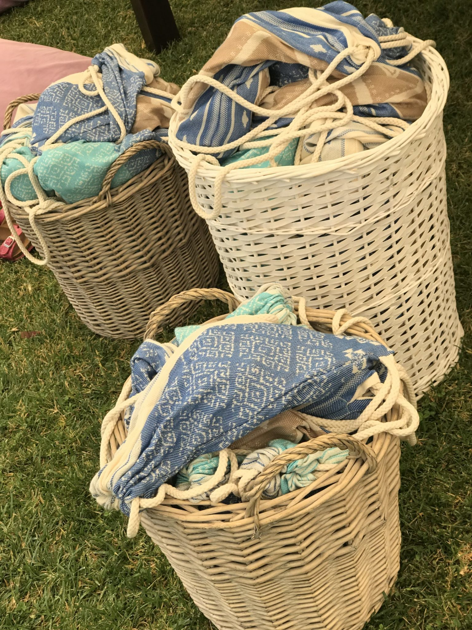 Earth and sky-baptism-kids gifts in baskets