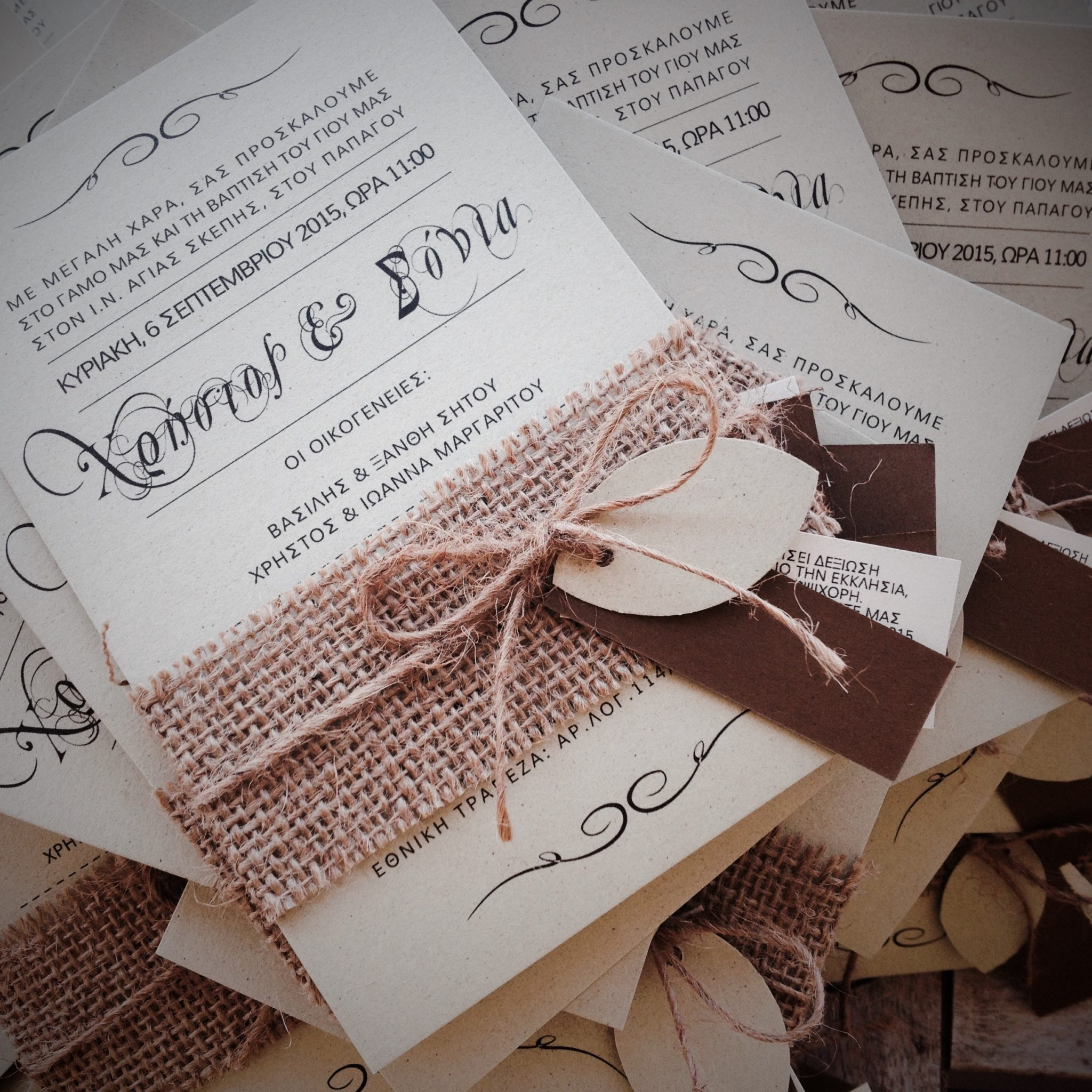 Eco-friendly Love-wedding-baptism-invitations