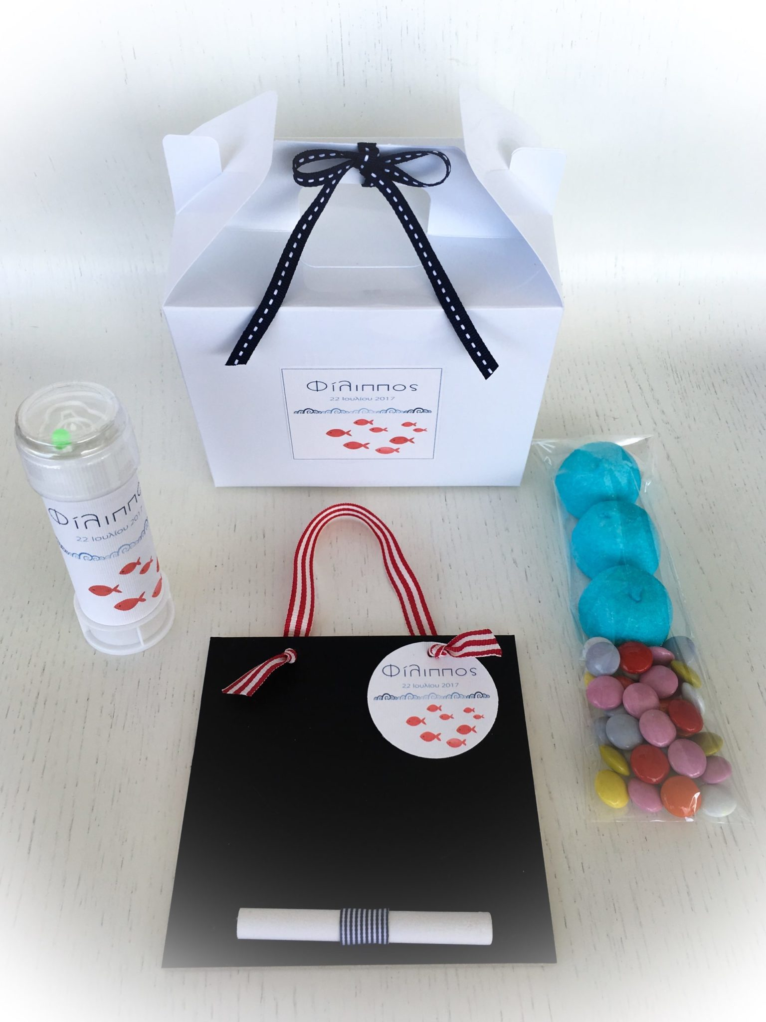 Fish In The Sea-baptism gift box-contents