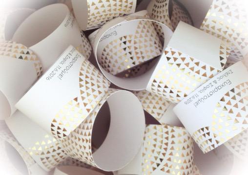 Geometric Harmony-wedding favor-detail