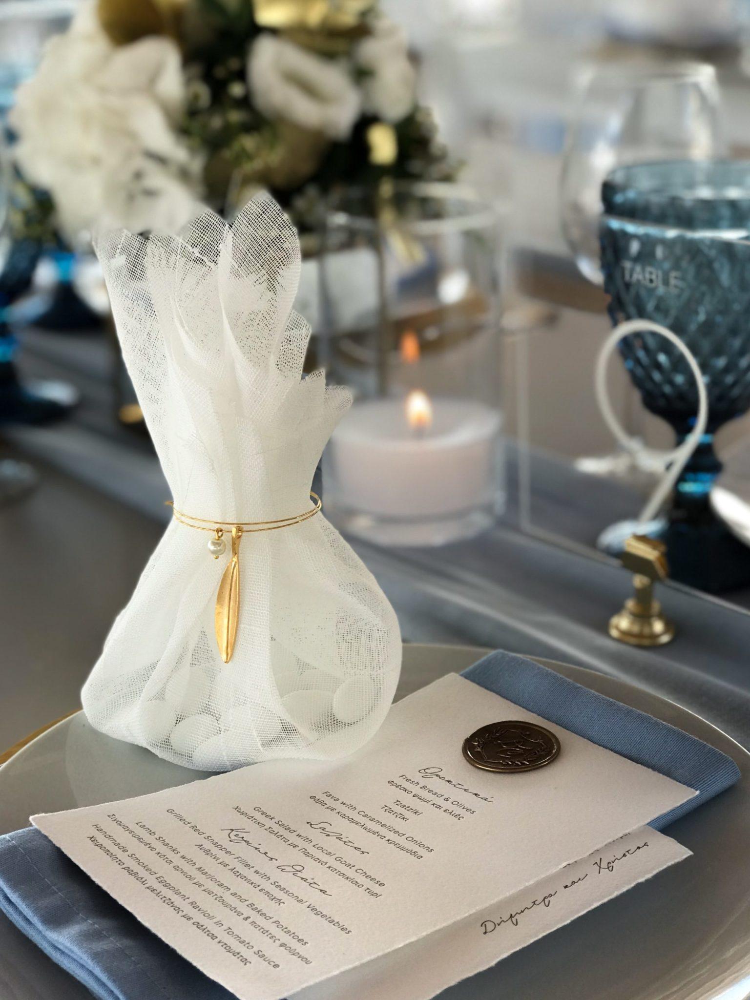 Golden Leaves-wedding-set up-close up
