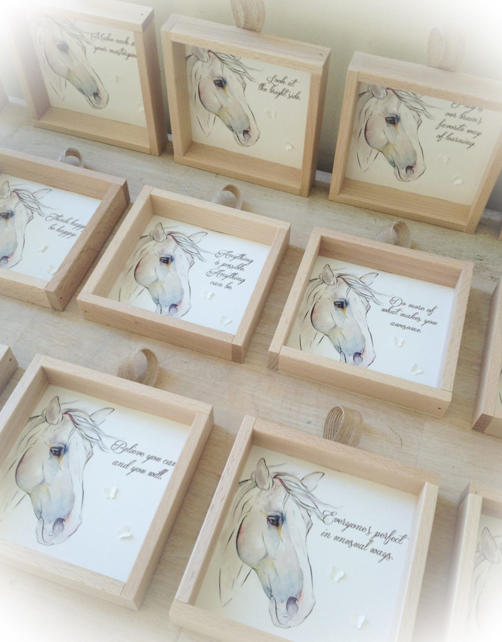 Horse Theme-party-wooden frames-quotes