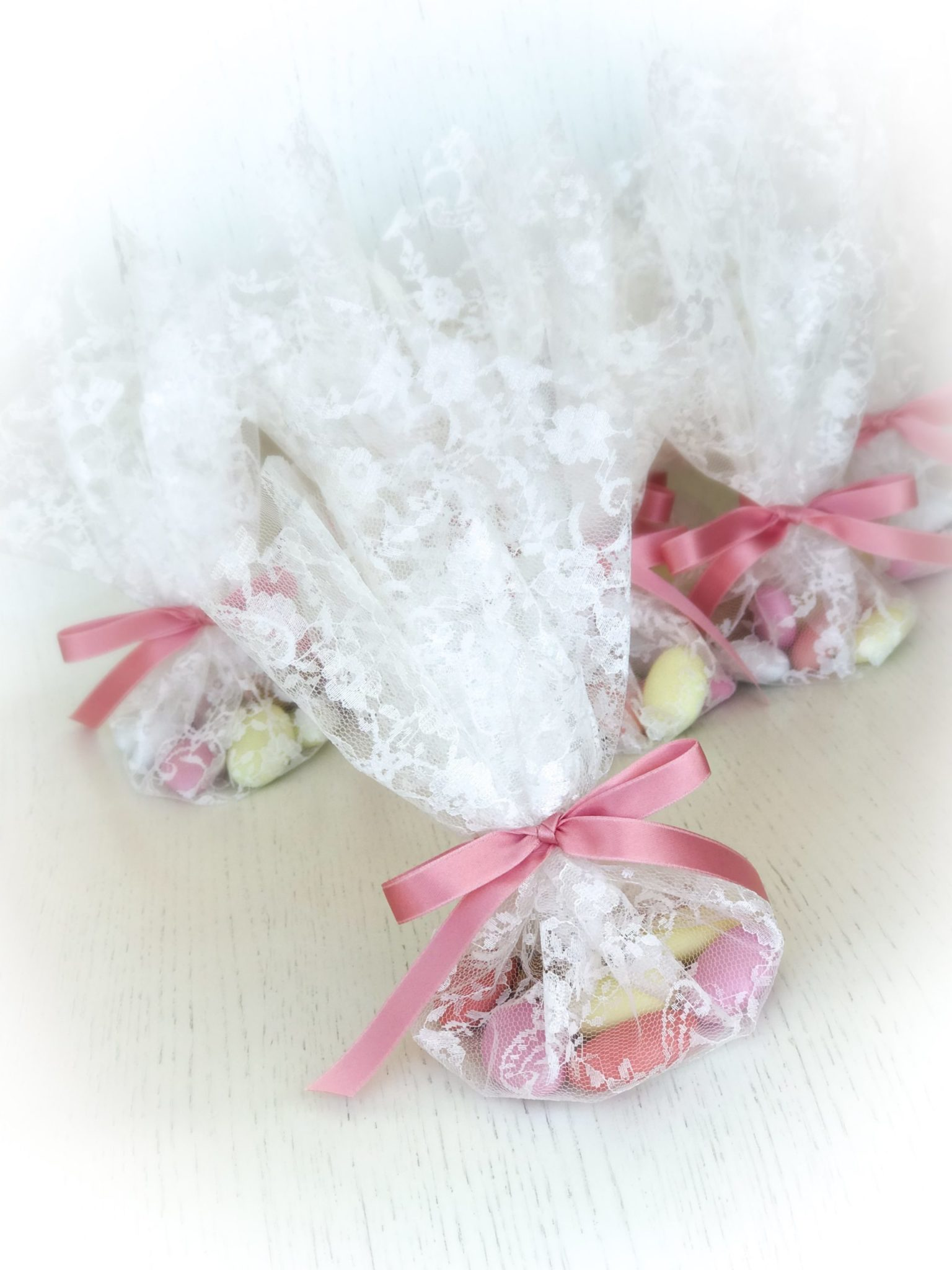 Lace And Satin-baptism favors