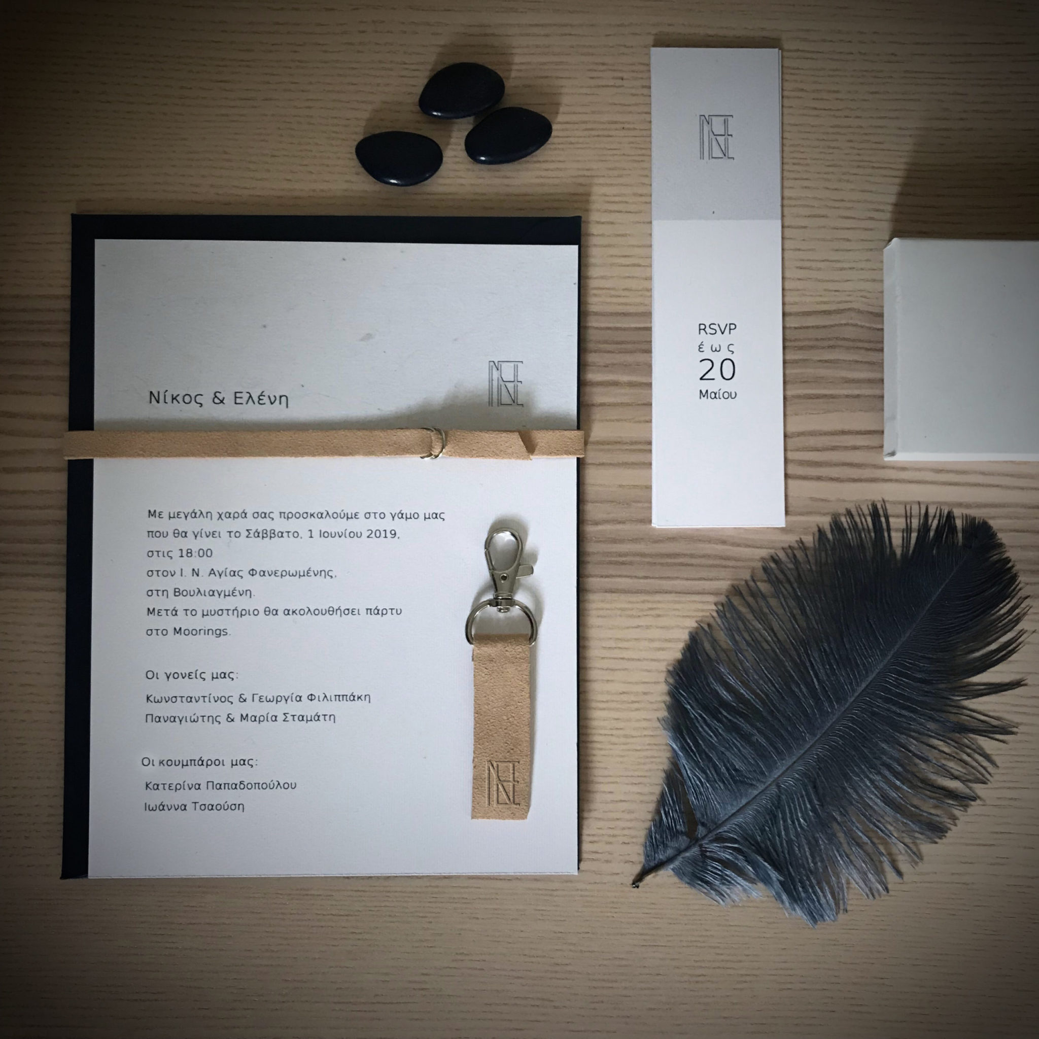Leather Details-wedding invitation-gift