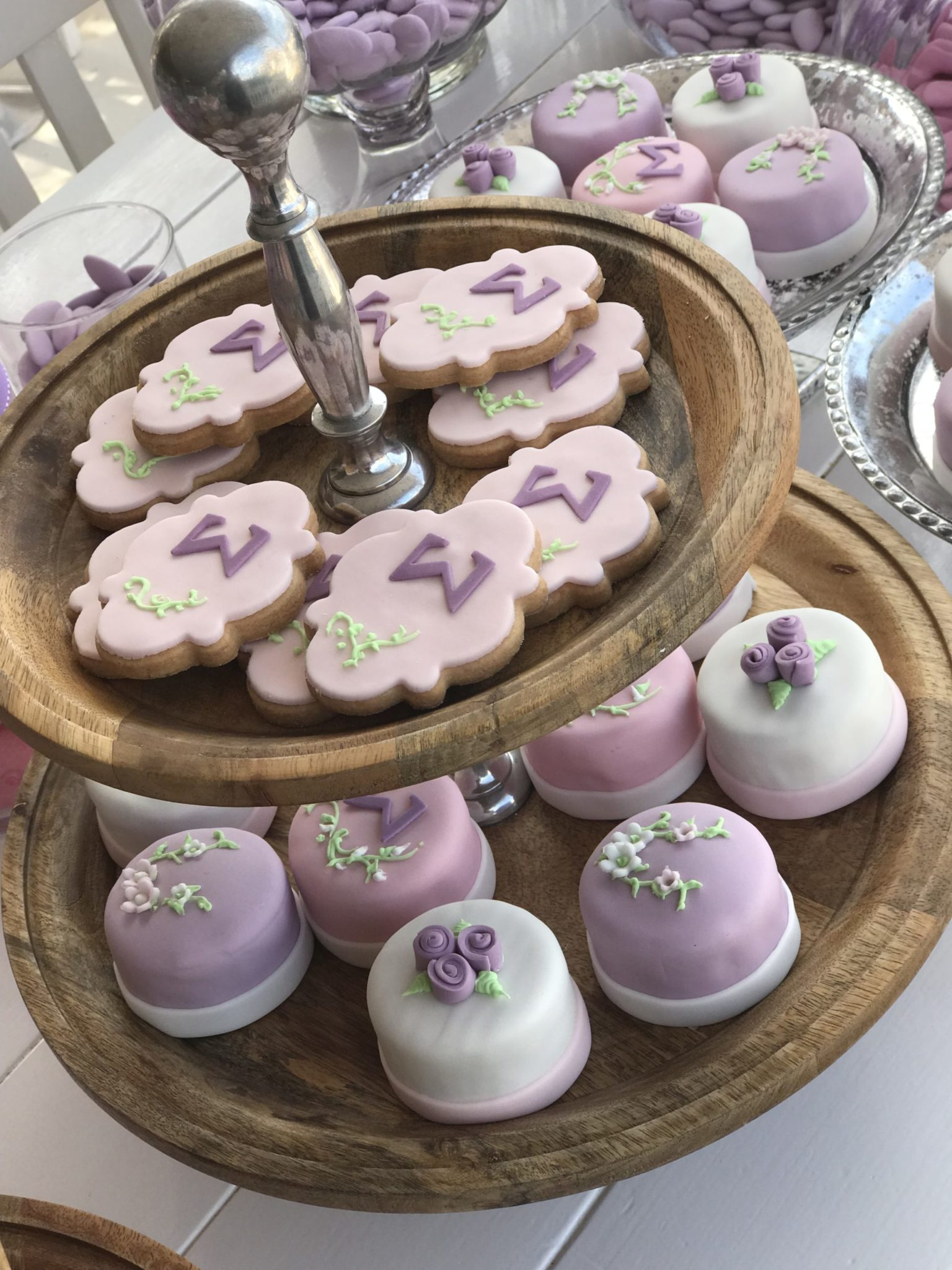 Lilac blossoms-baptism-candies