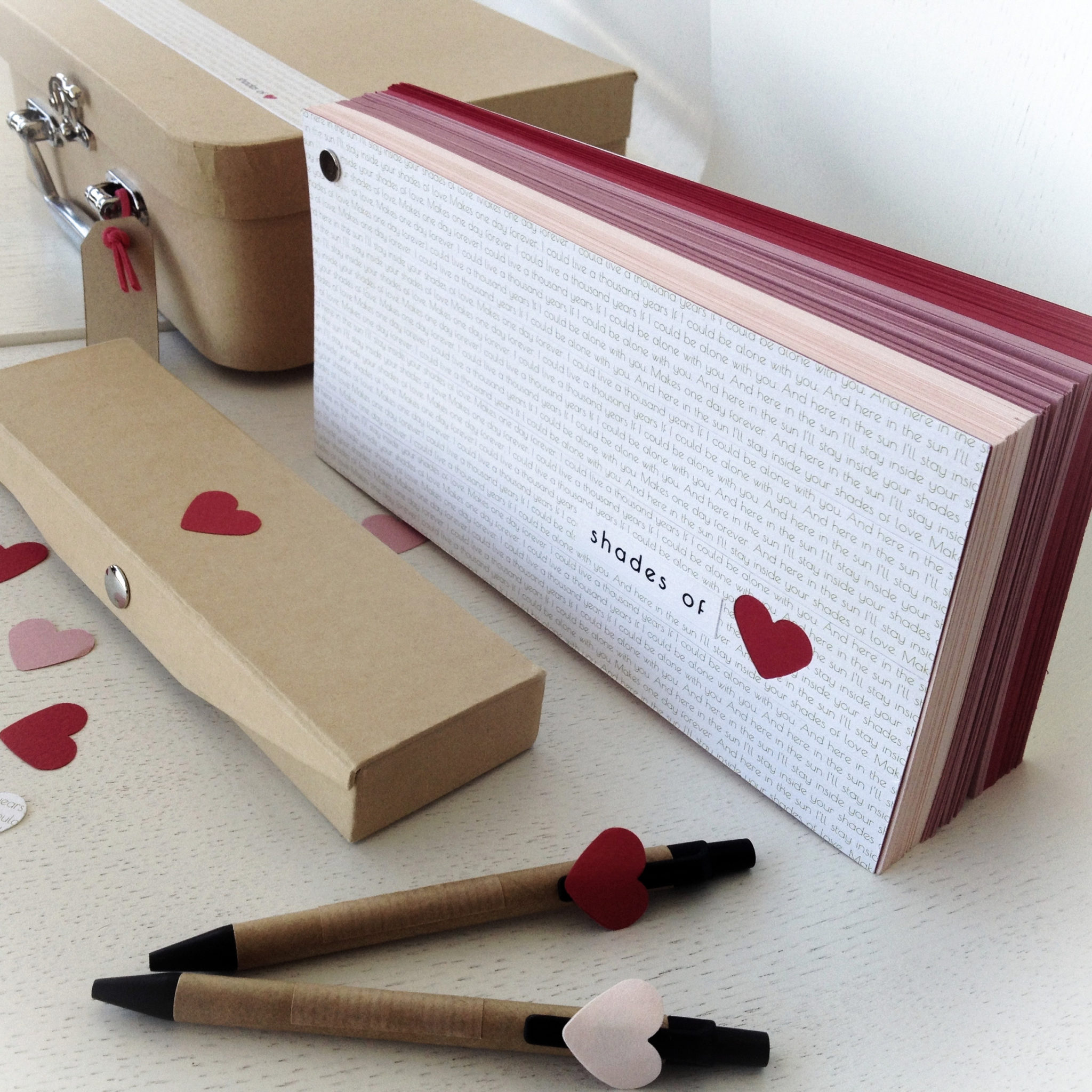 Love... Everywhere-wedding-wish book suitcase