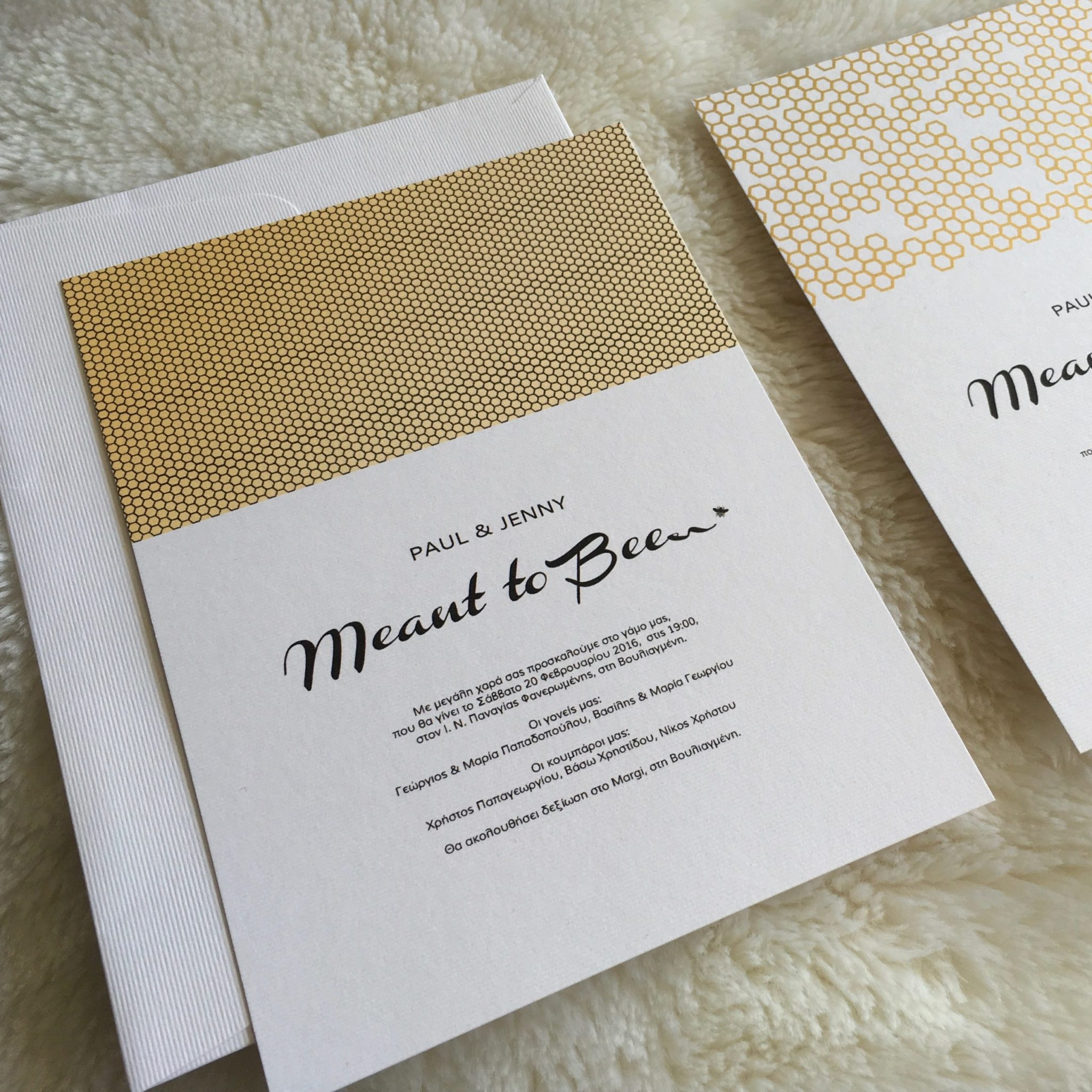 Meant To Be-wedding invitations-close up
