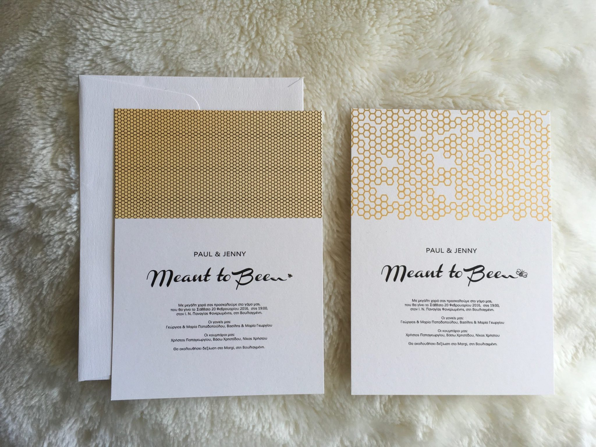 Meant To Be-wedding invitations