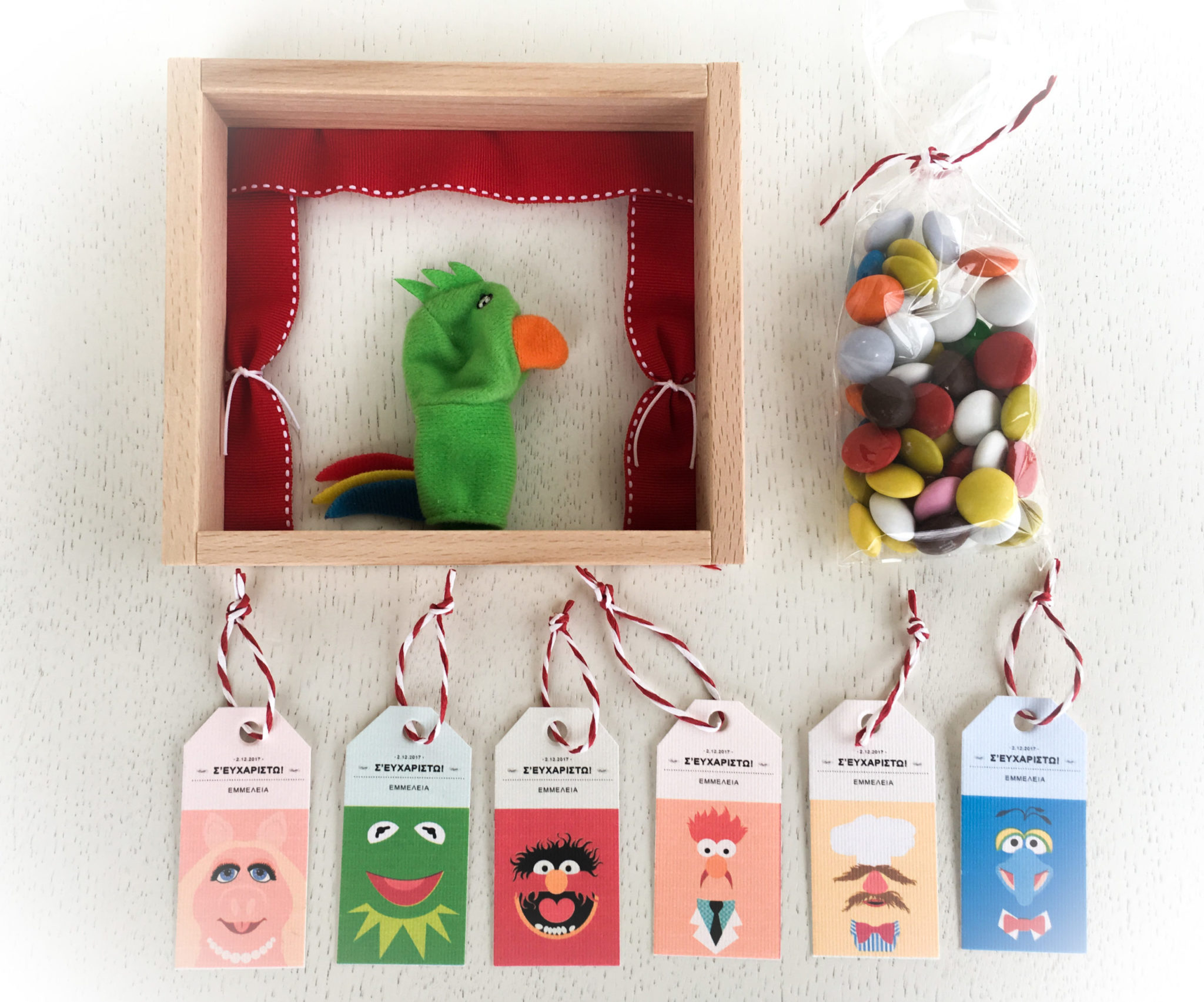 Meet The Muppets-party gift-details