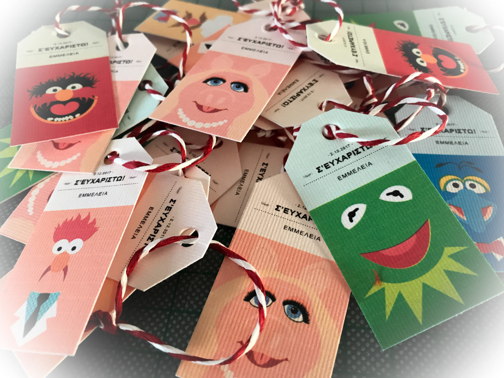 Meet The Muppets-party-gift tags