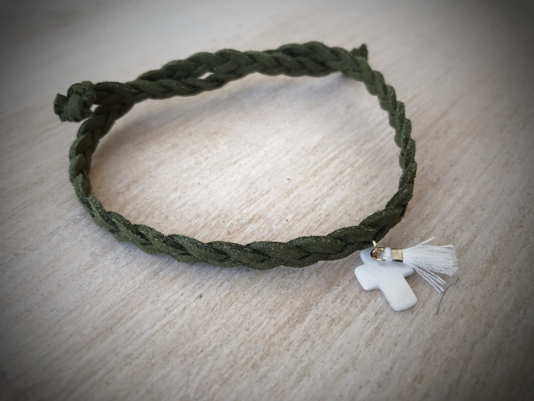 Naturally-baptism-witness bracelet-green