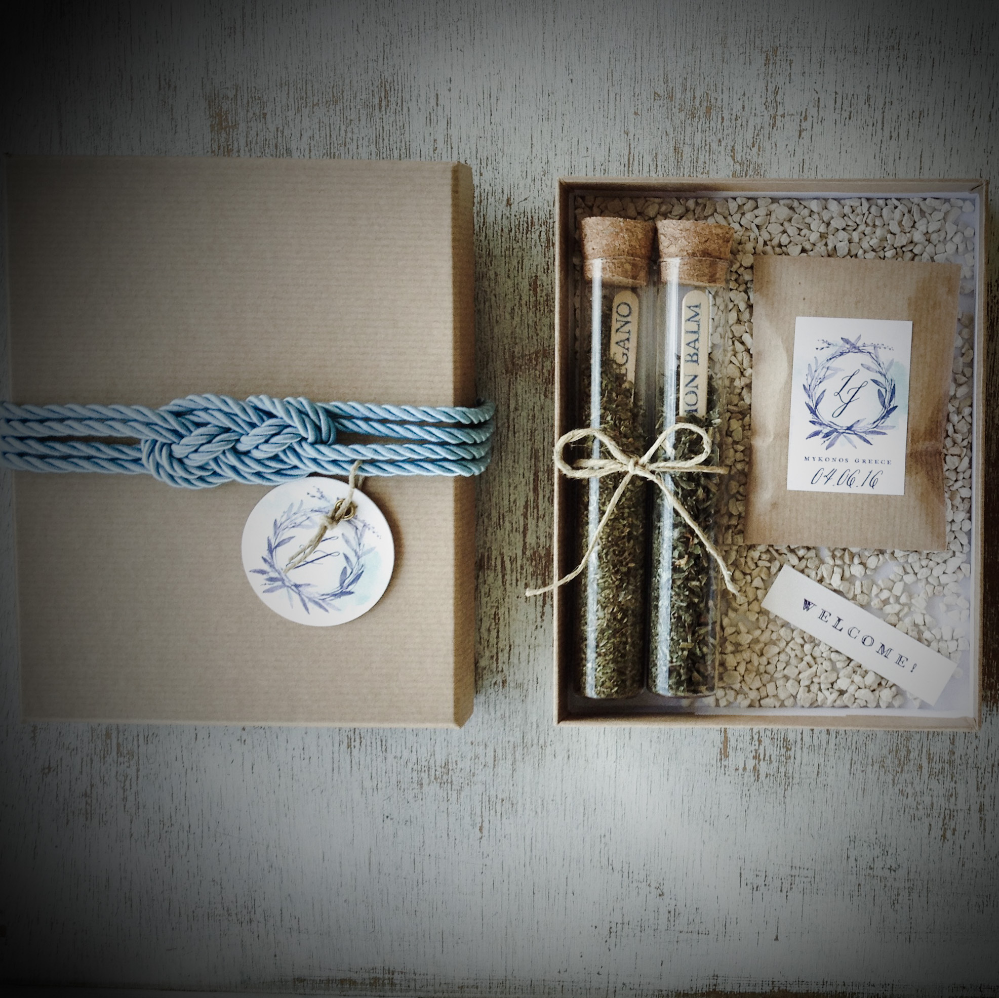Natures' Scents-wedding-wecome gift-inside out -close up