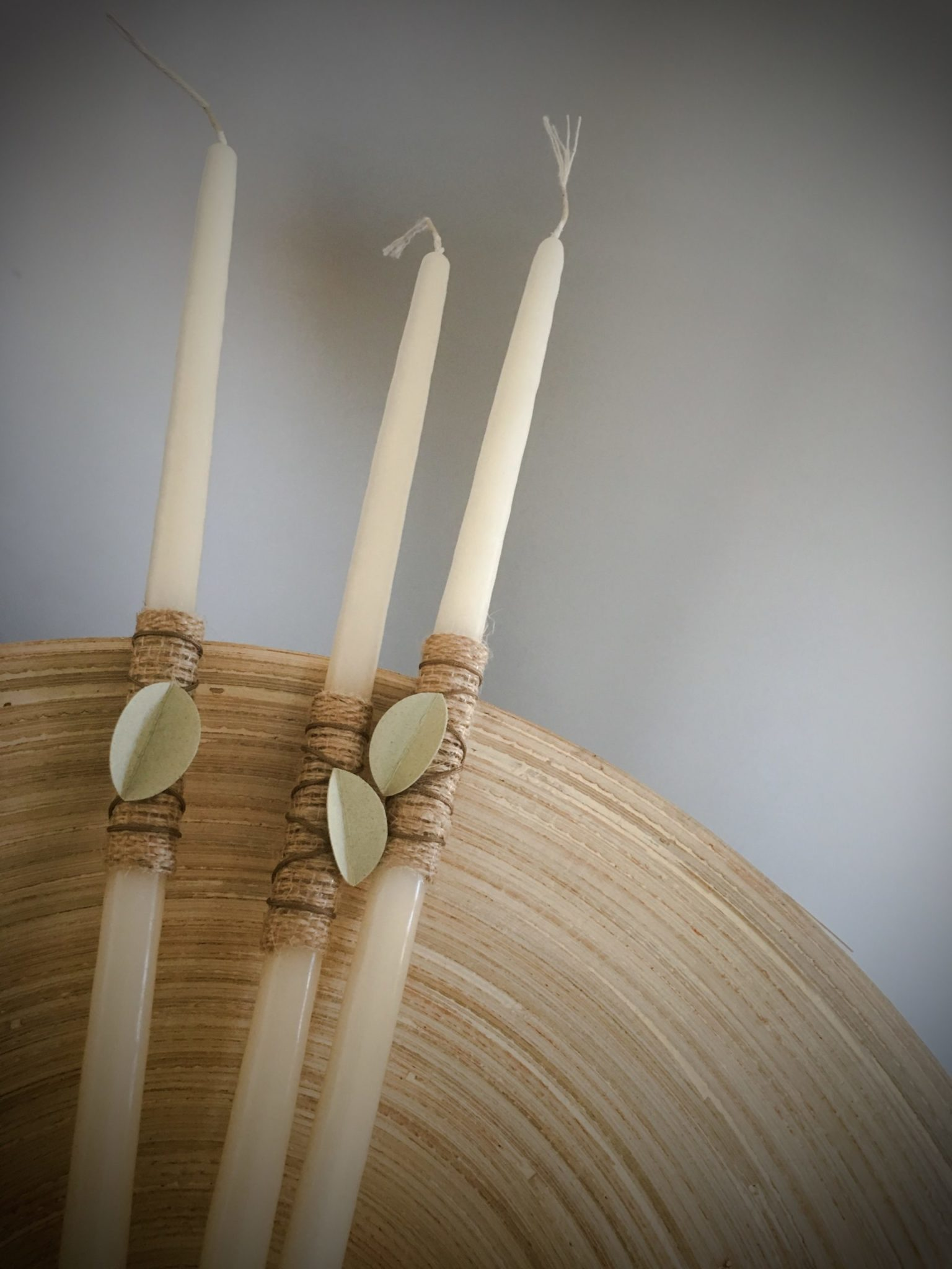 Olive Tree-wedding-baptism set-candles