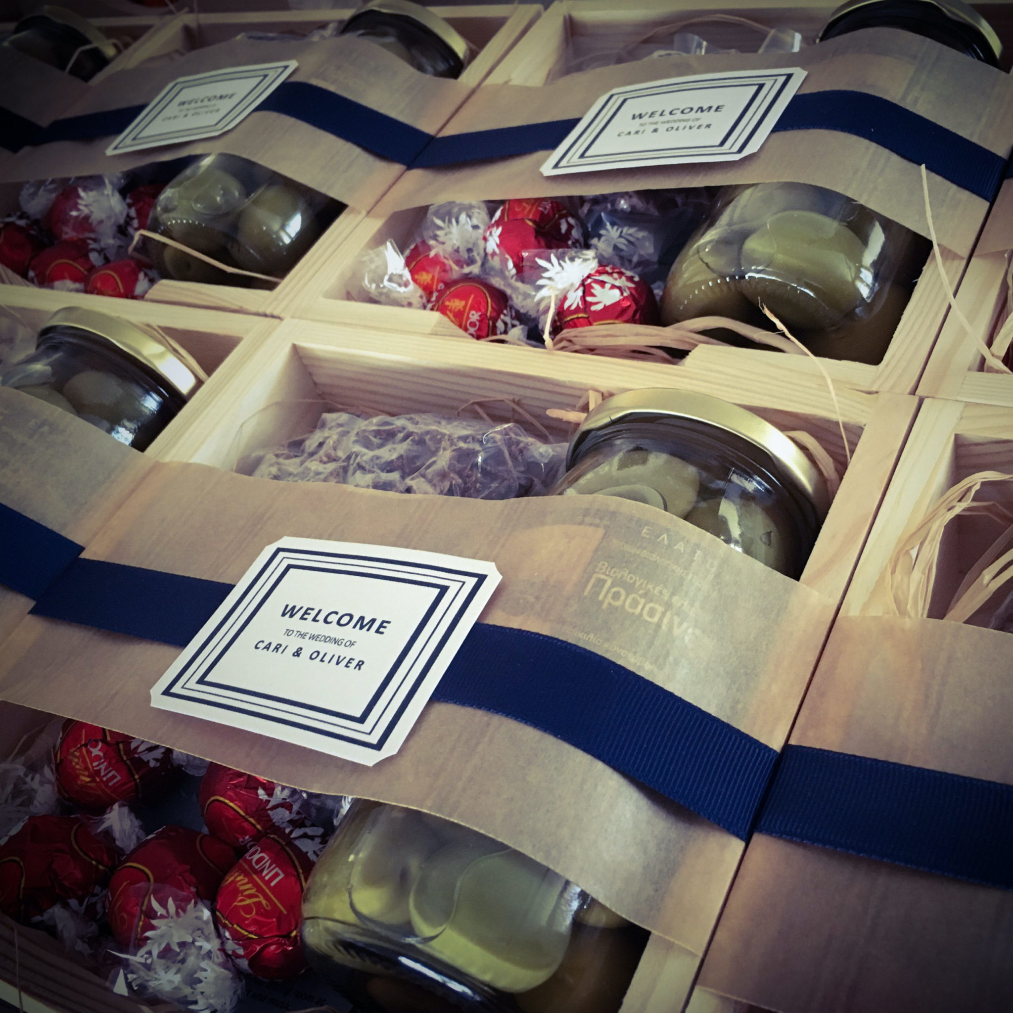 Olives, Chocolates And Biltong-wedding-welcome gift-close up