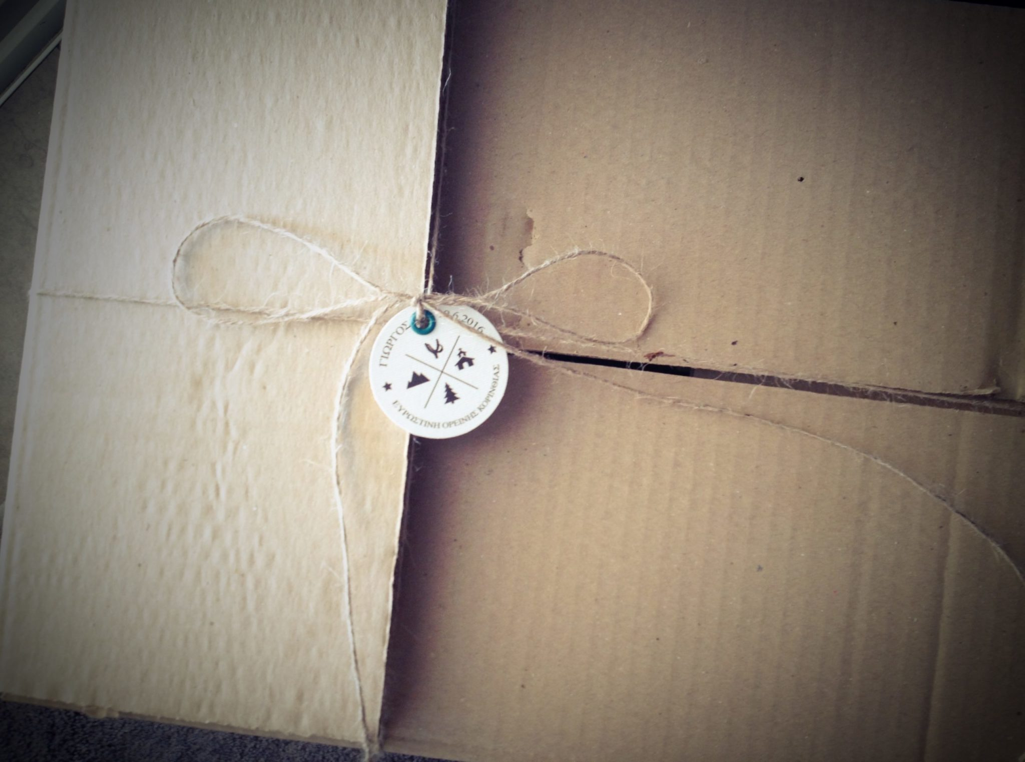 On The Mountains-baptism favors-packaging