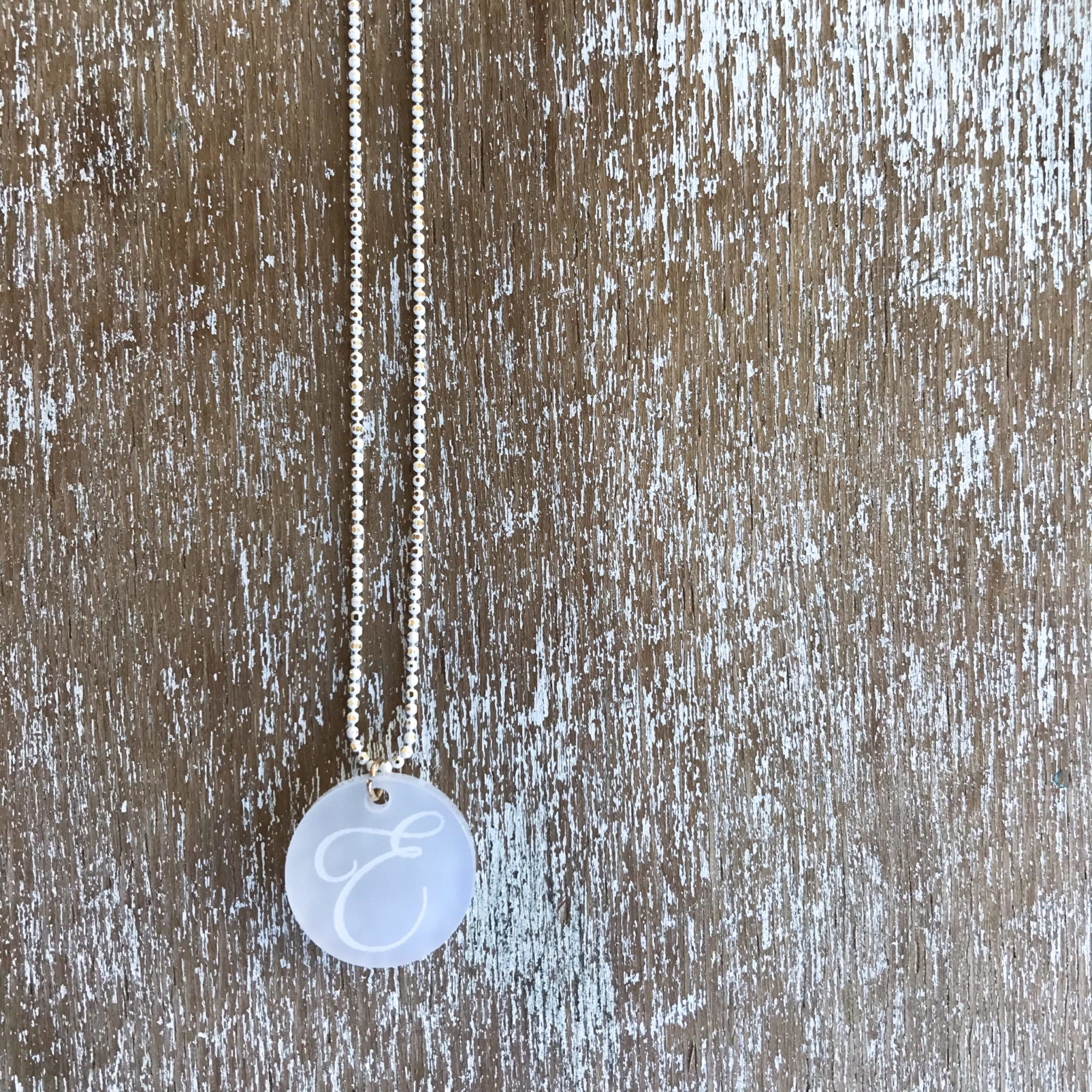 Pure White-baptism-monogramm necklace