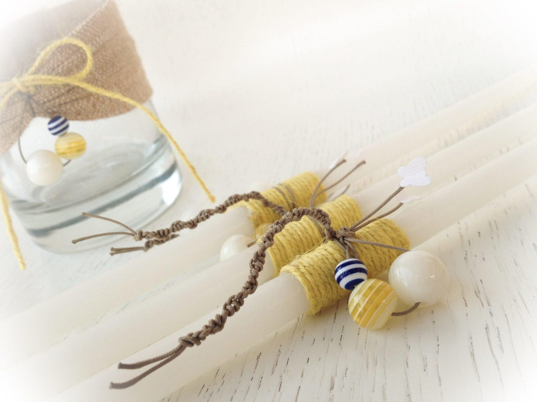 Snails And Butterflies-baptism oilset-candles-detail