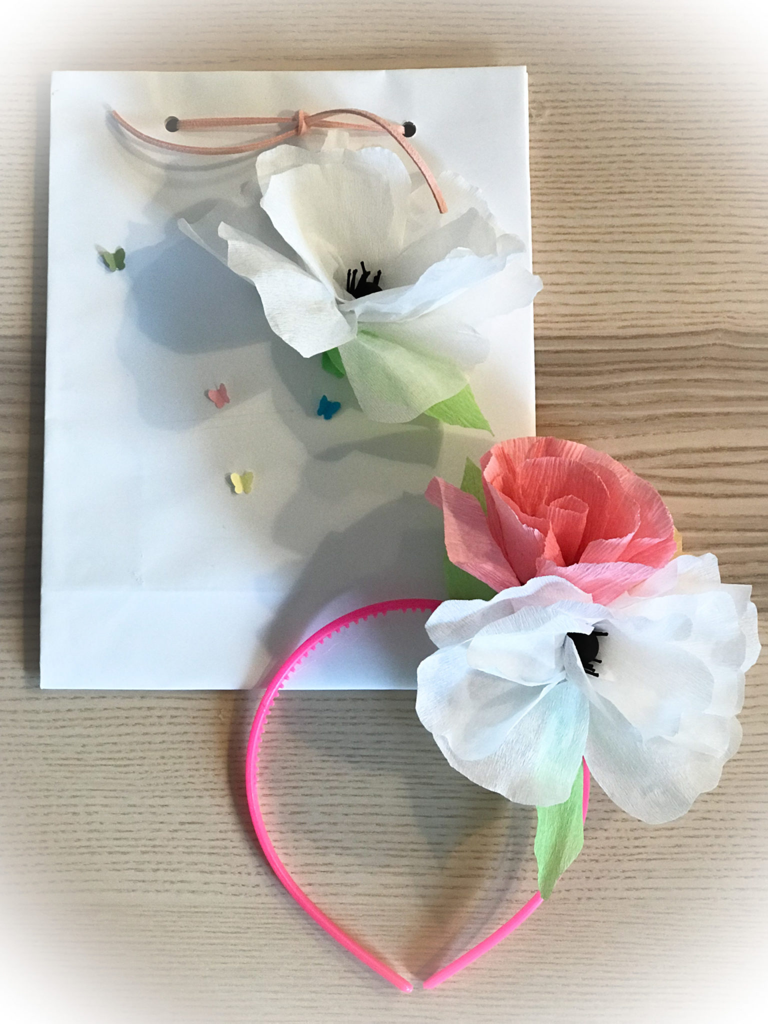 Spring Is Nature's Way Of Saying Let's Party-party gift bag-headband-d