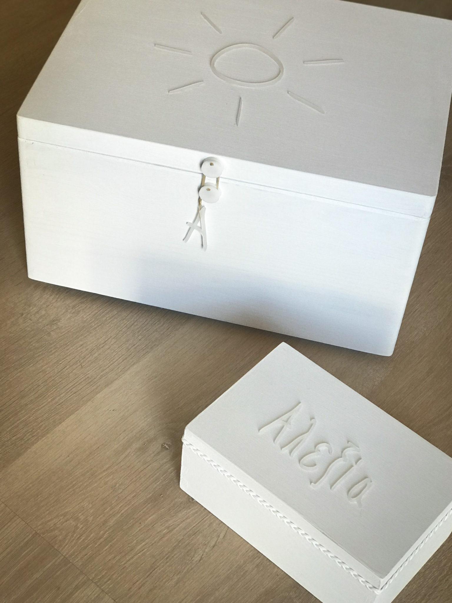 Sunny Days-baptism box-witness pins box