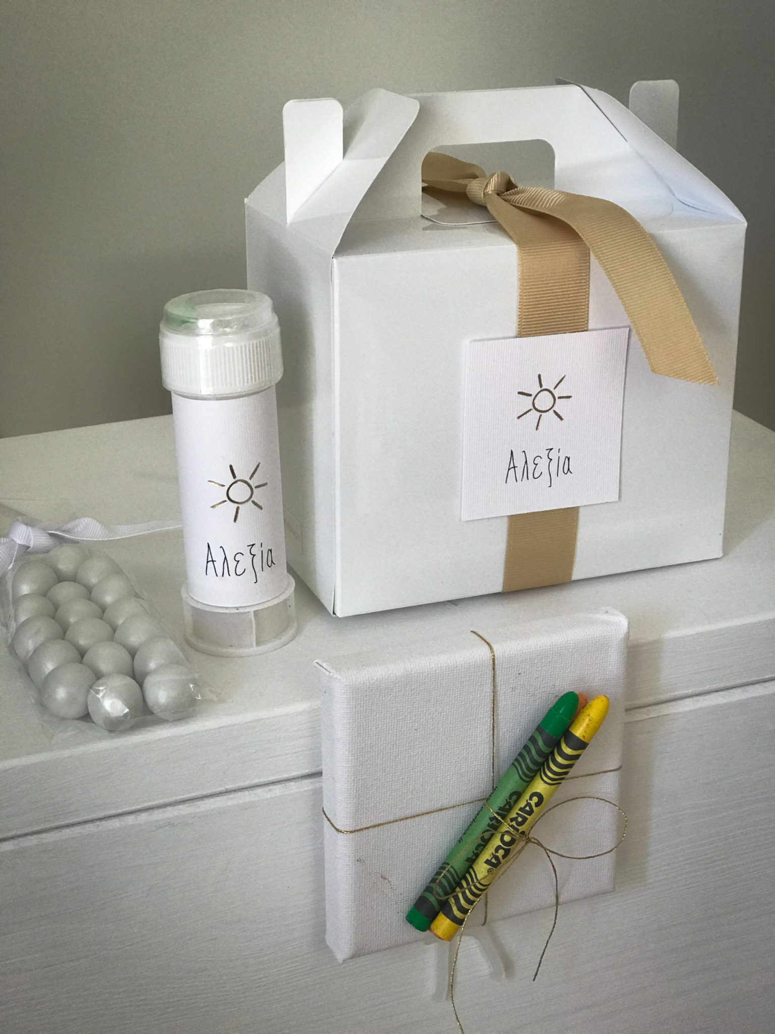Sunny Days-baptism-kids gift box-content