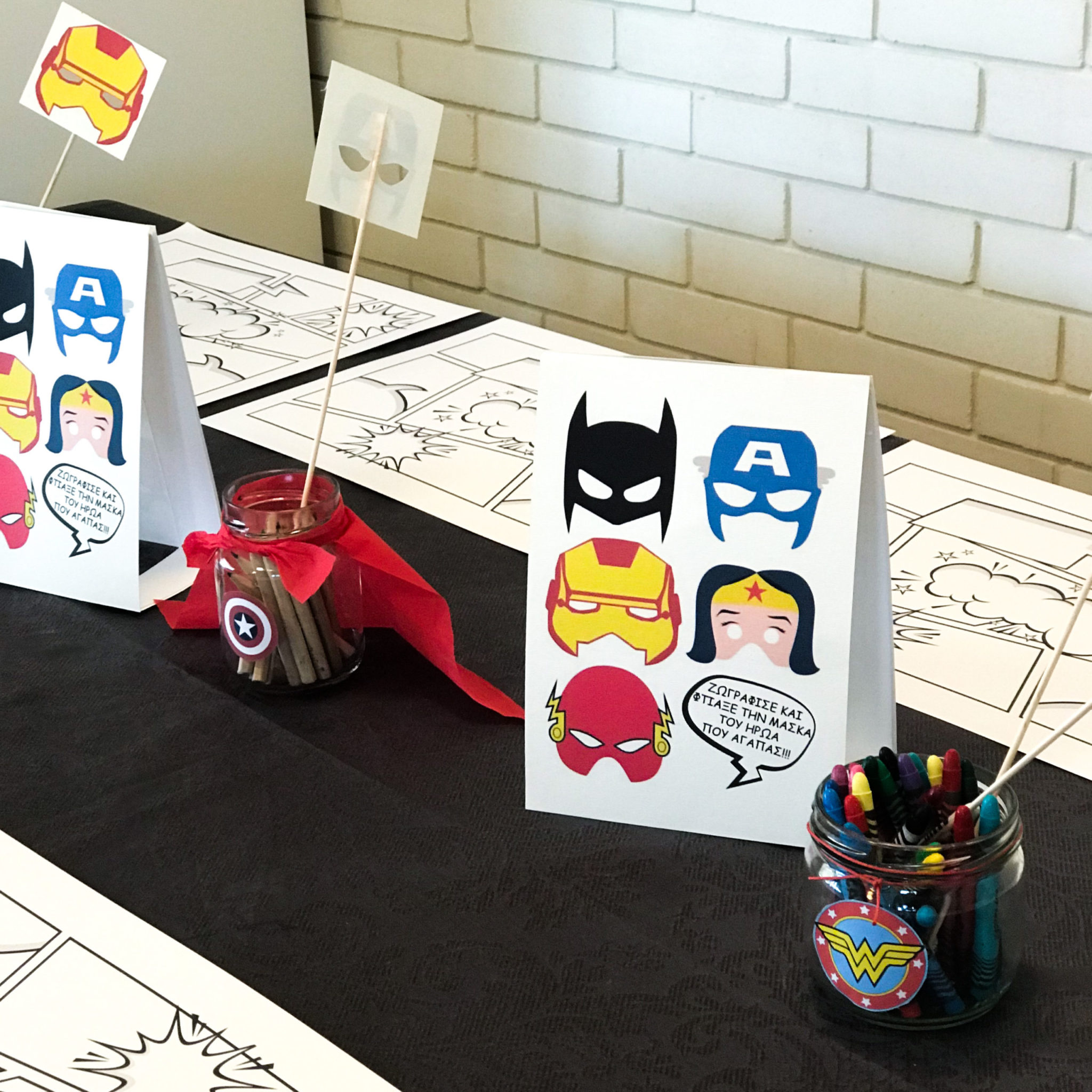Super Heroes-party-kids activity