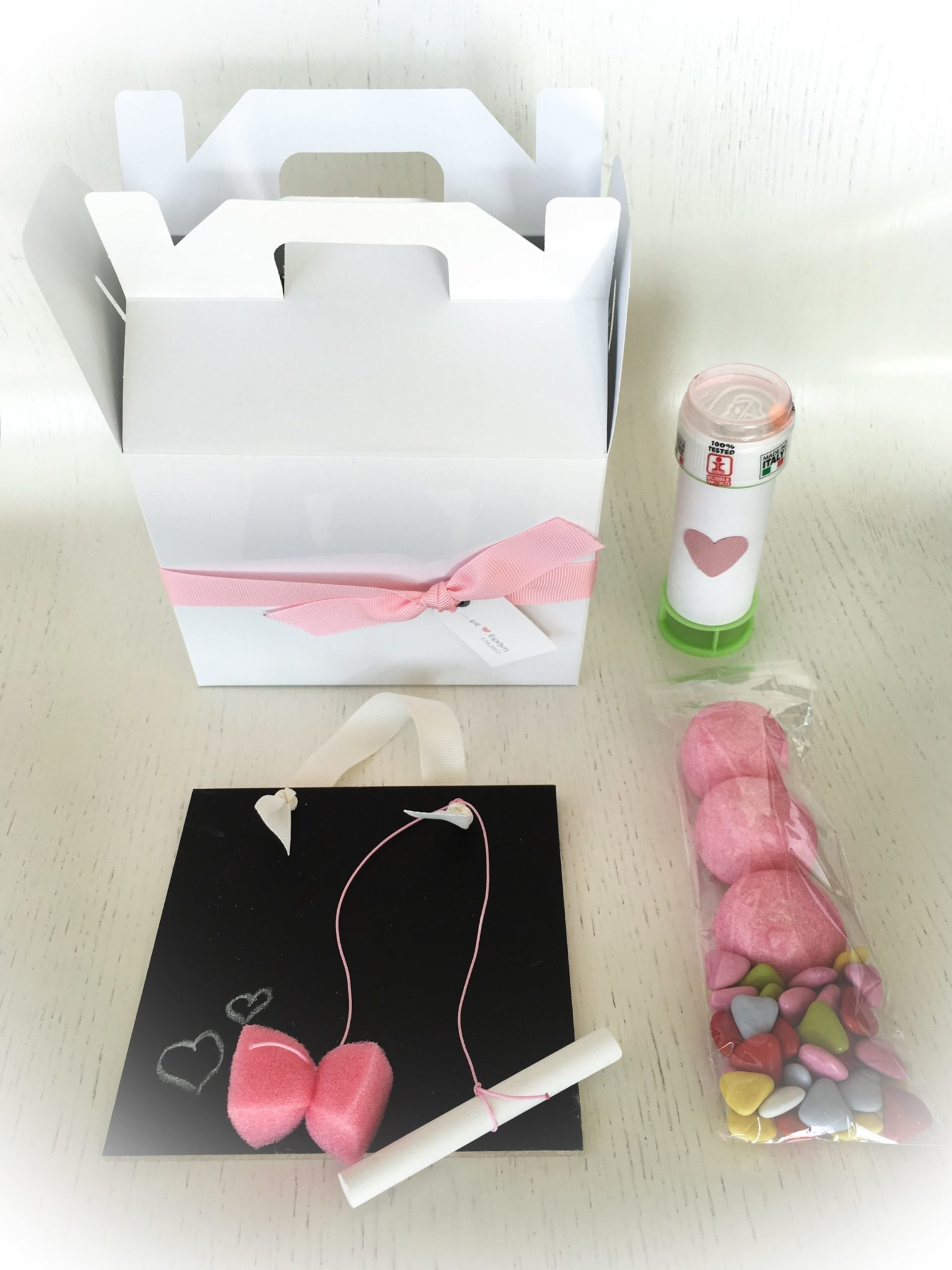 Sweet...heart-baptism kids gift box-contents