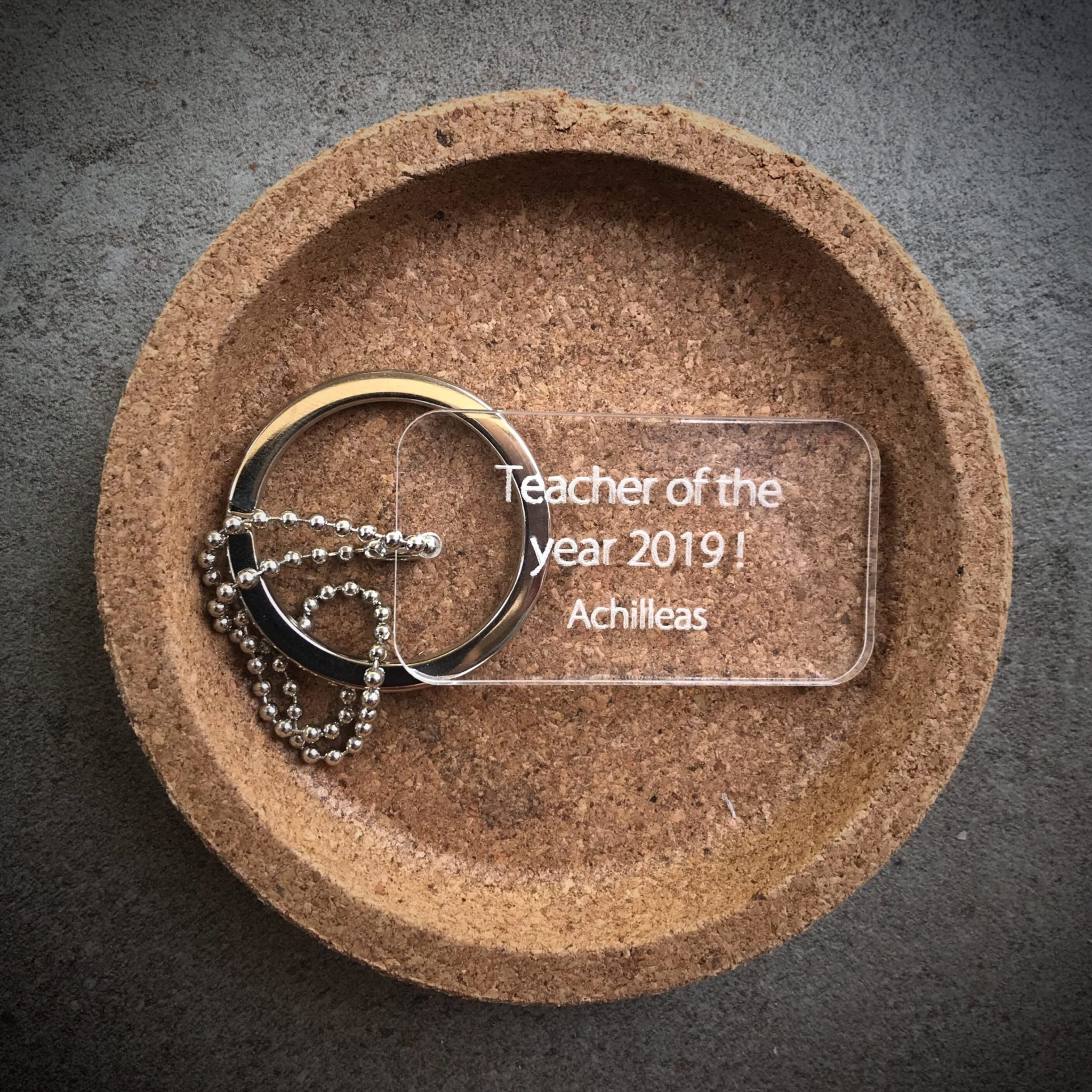 Teacher Of The Year-special occasion-plexi tag-keychain