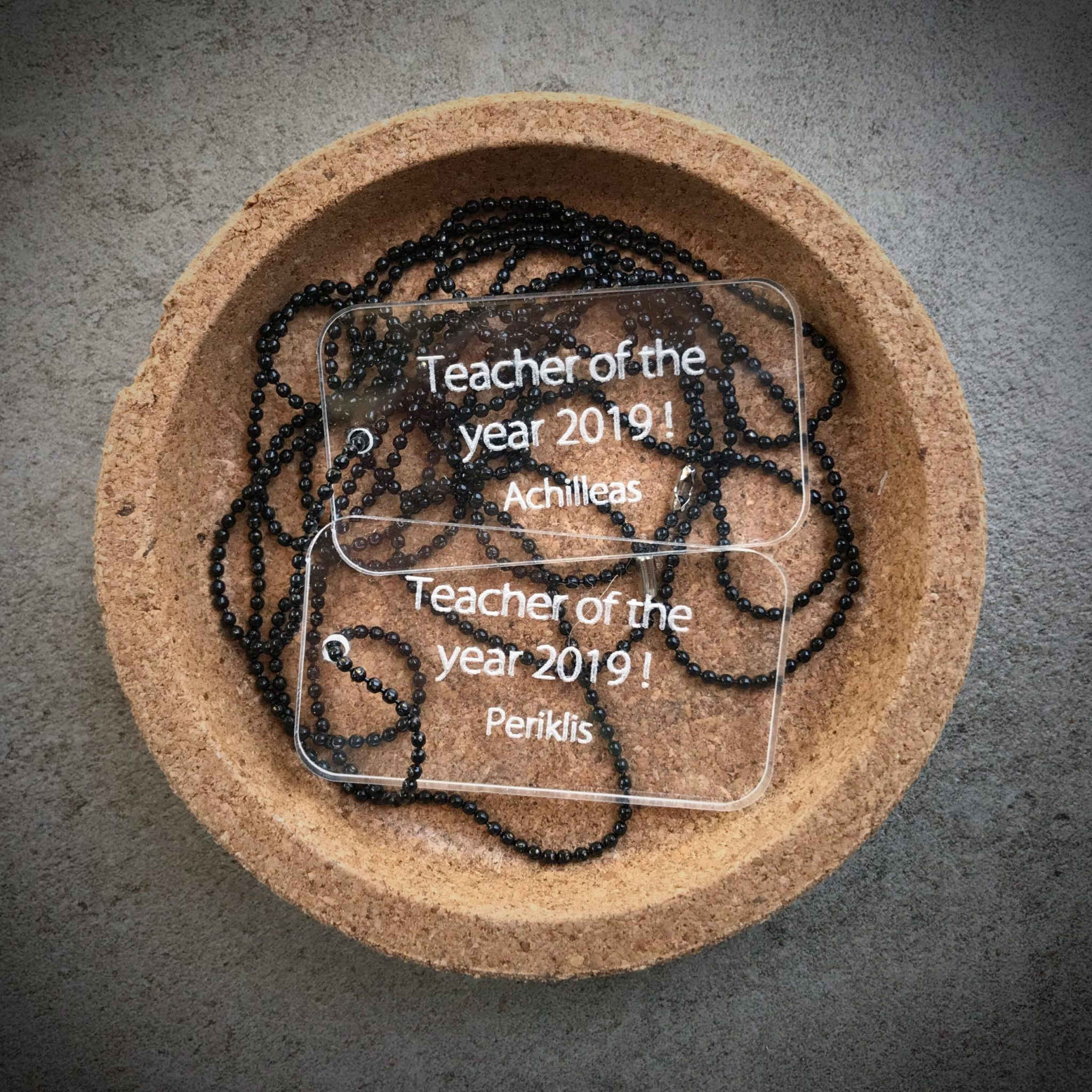 Teacher Of The Year-special occasion-plexi tags-necklaces