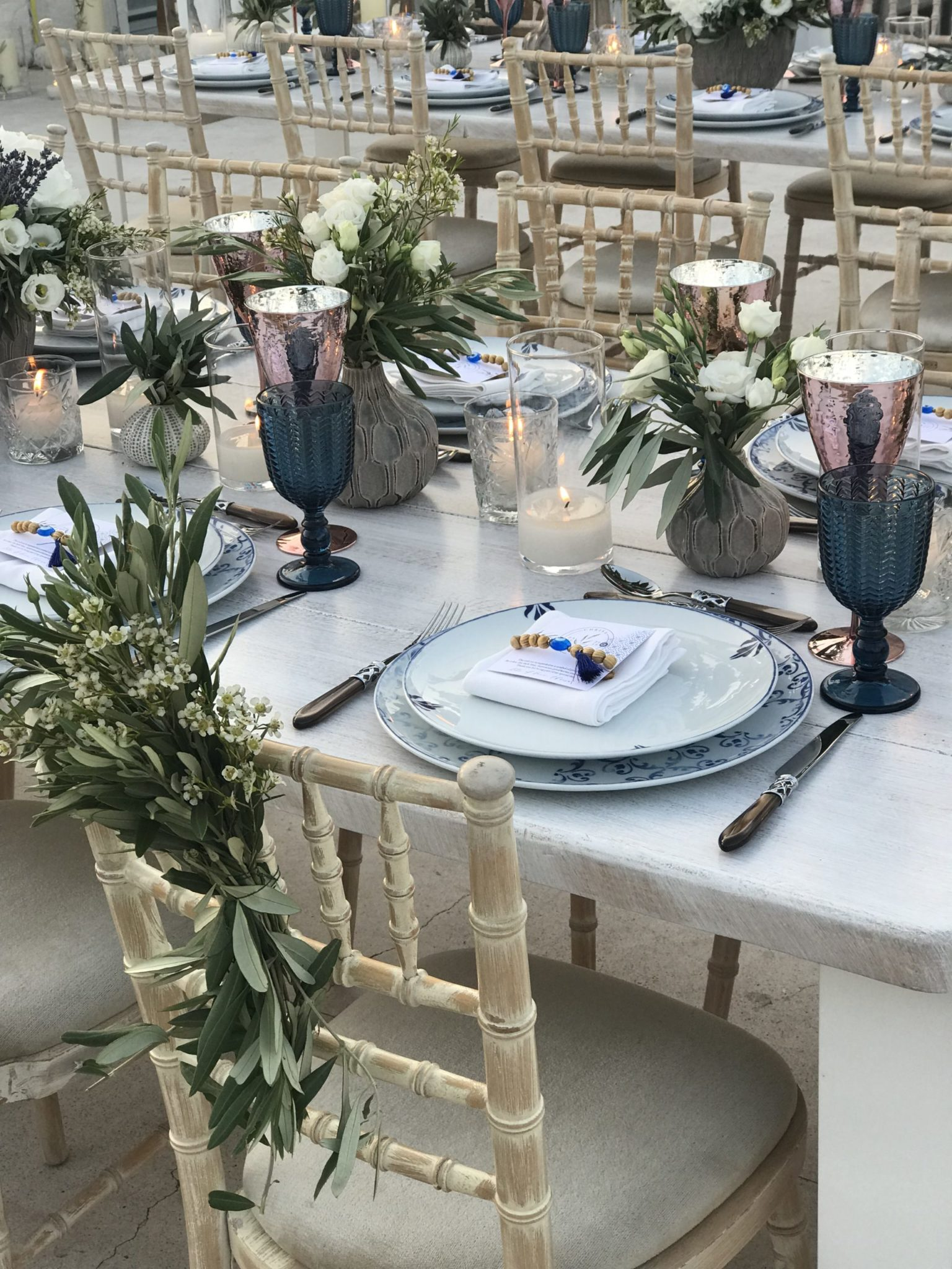 Totally Greek-party gifts-set up-close up