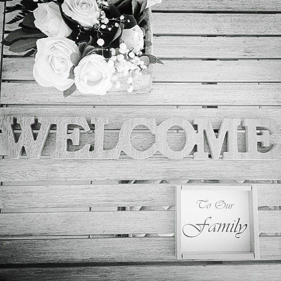 Welcome To Our Family-wedding-set up