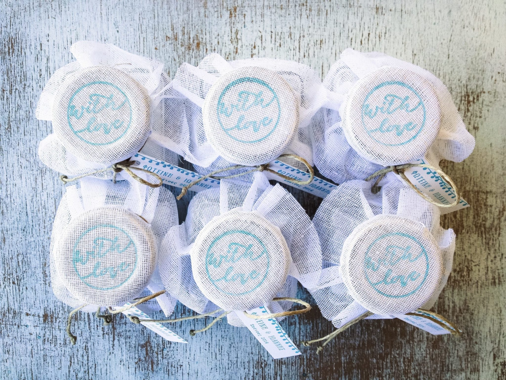 With Love-wedding favors-detail
