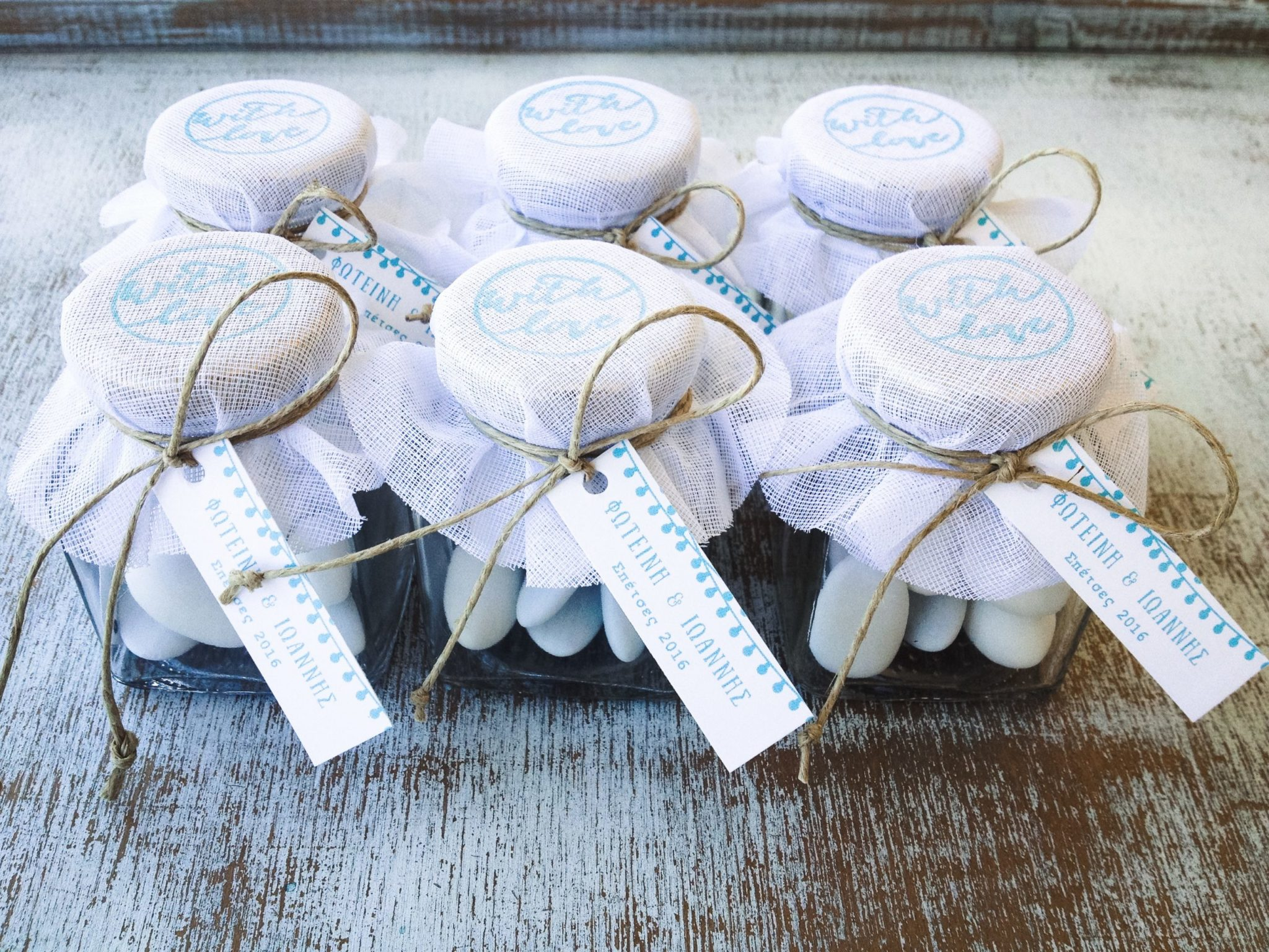 With Love-wedding favors-work in progress