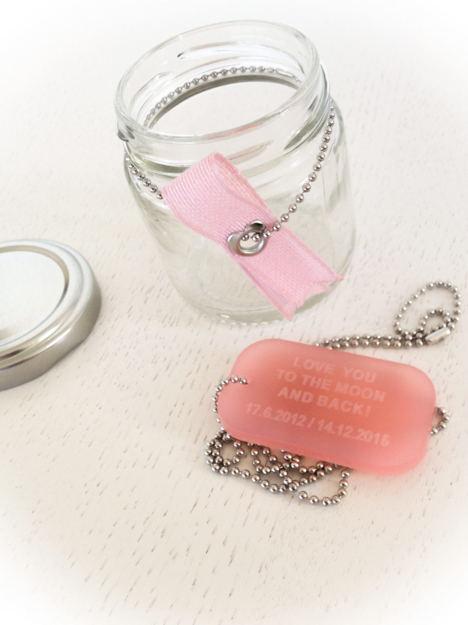 "Your ""Love"" Id-special occasion-pink plexi tag-necklace"