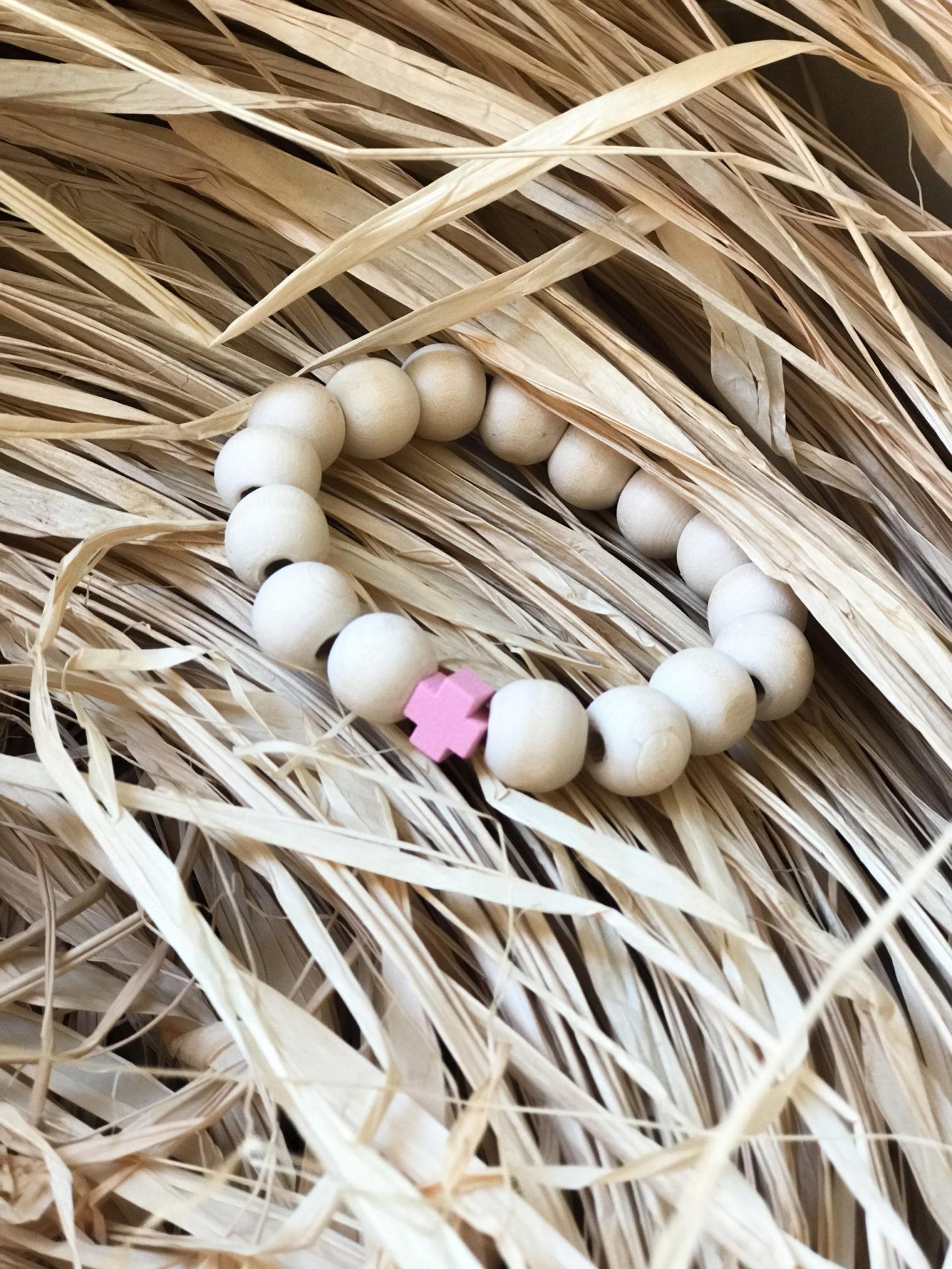 little-bunny-baptism-witness-bracelet-wooden-pebbles